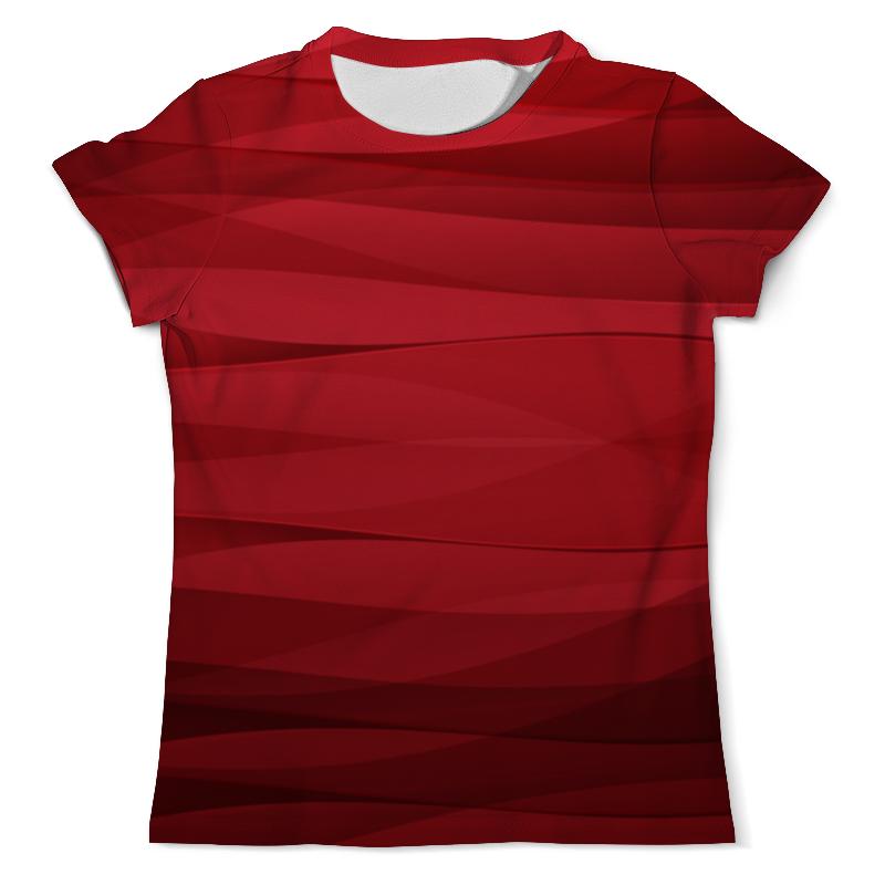 Футболка с полной запечаткой (мужская) Printio Красная абстракция футболка 501 красная