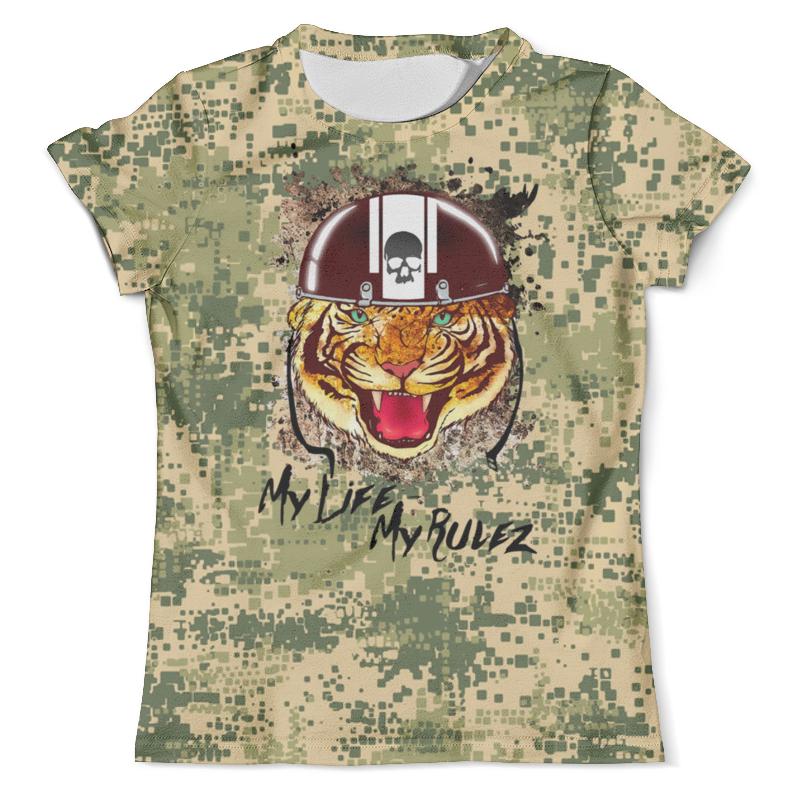 Футболка с полной запечаткой (мужская) Printio Тигр в каске футболка с полной запечаткой мужская printio одноглазый тигр