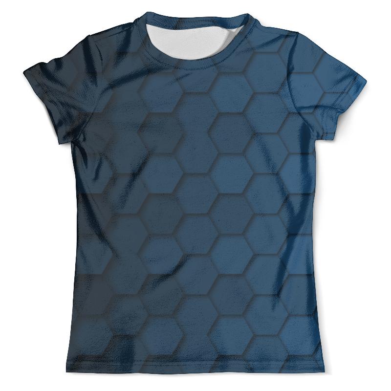 Футболка с полной запечаткой (мужская) Printio Синяя абстракция сумка с полной запечаткой printio синяя абстракция
