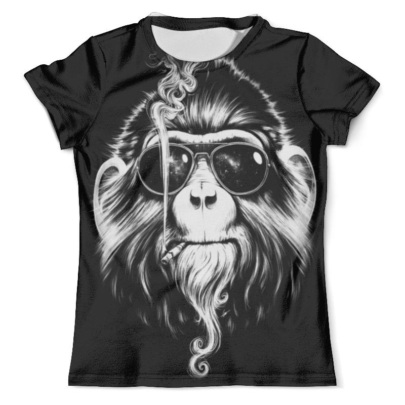 Футболка с полной запечаткой (мужская) Printio Курящая обезьяна футболка с полной запечаткой мужская printio war monkey обезьяна