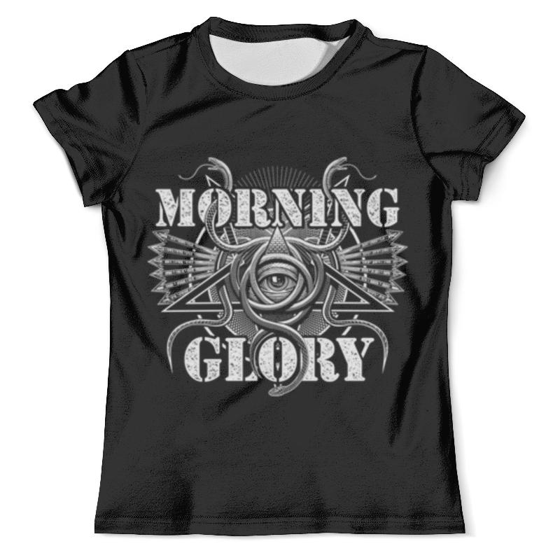 Футболка с полной запечаткой (мужская) Printio Morning glory glory 1109 2015 light blue