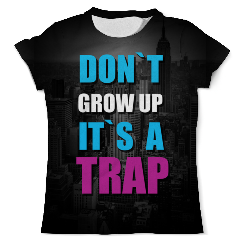 Printio Крупный текст it is a trap футболка с полной запечаткой мужская printio разноцветный текст this is a mouse