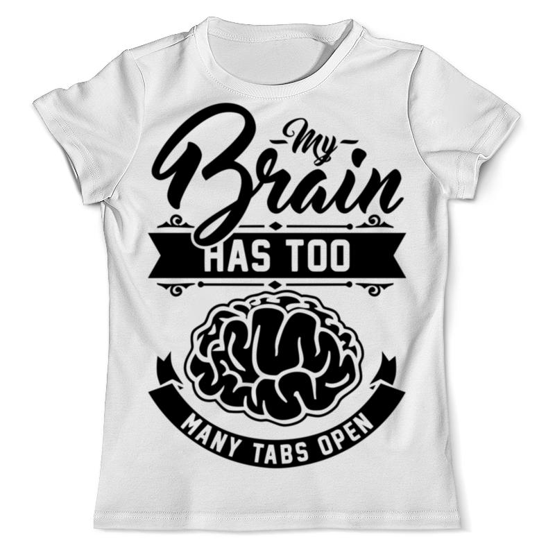 Футболка с полной запечаткой (мужская) Printio Мозг (brain) цена и фото