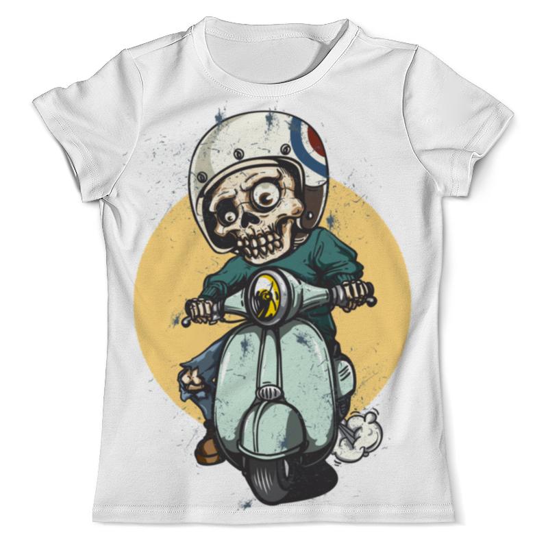 Printio Скелет на мопеде футболка print bar цветущий скелет
