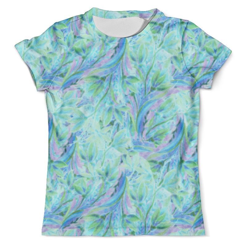 Футболка с полной запечаткой (мужская) Printio Акварельные нежные голубые цветы футболка с полной запечаткой мужская printio нежные абстрактные цветы