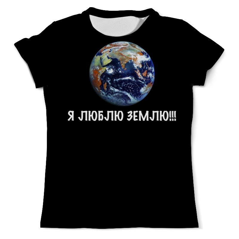 Футболка с полной запечаткой (мужская) Printio Земля футболка на заказ со своей надписью
