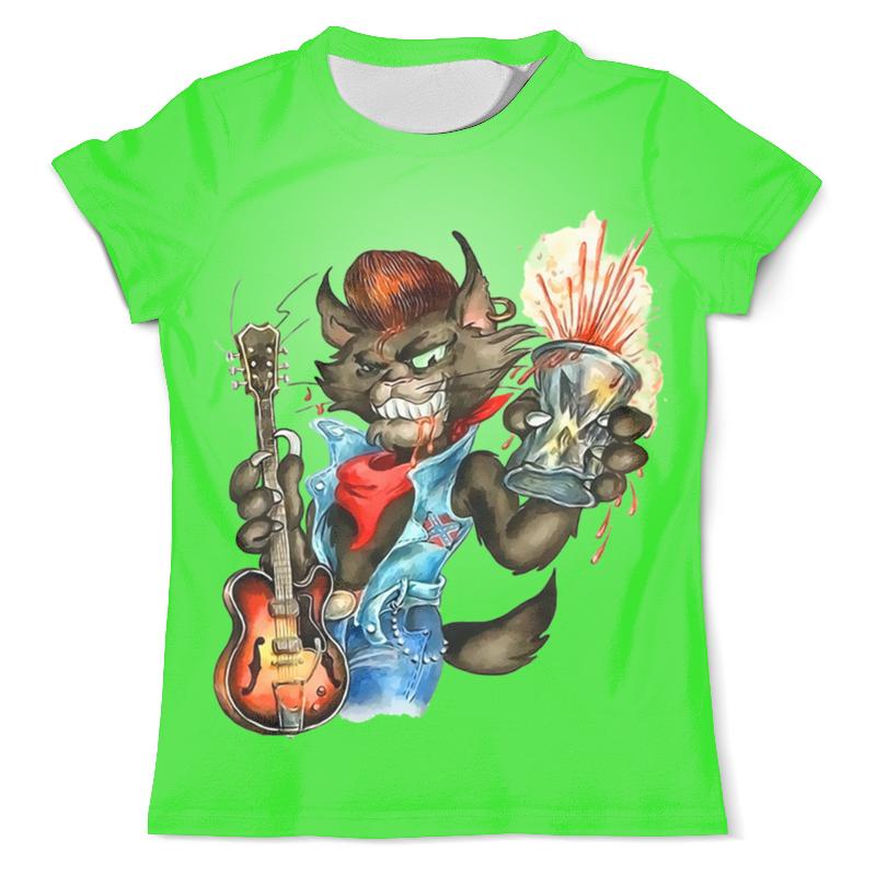 Printio Котик музыкант футболка с полной запечаткой мужская printio милый котик