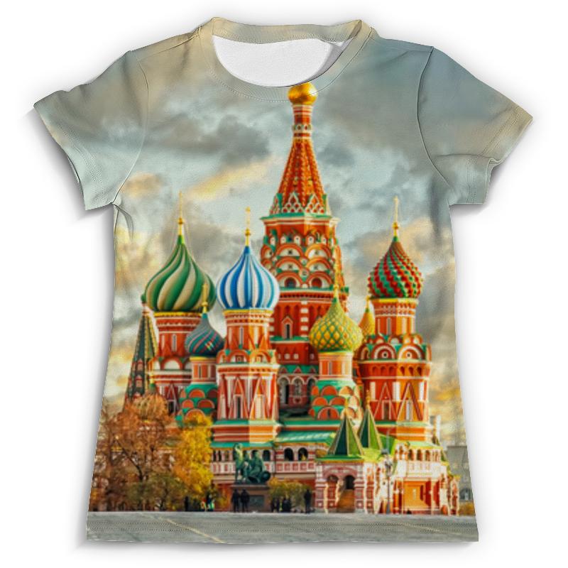 Футболка с полной запечаткой Printio Москва. россия футболка с полной запечаткой printio москва россия
