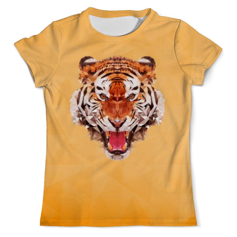 Футболка с полной запечаткой (мужская) Printio Полигональный тигр футболка с полной запечаткой мужская printio тигр арт 1