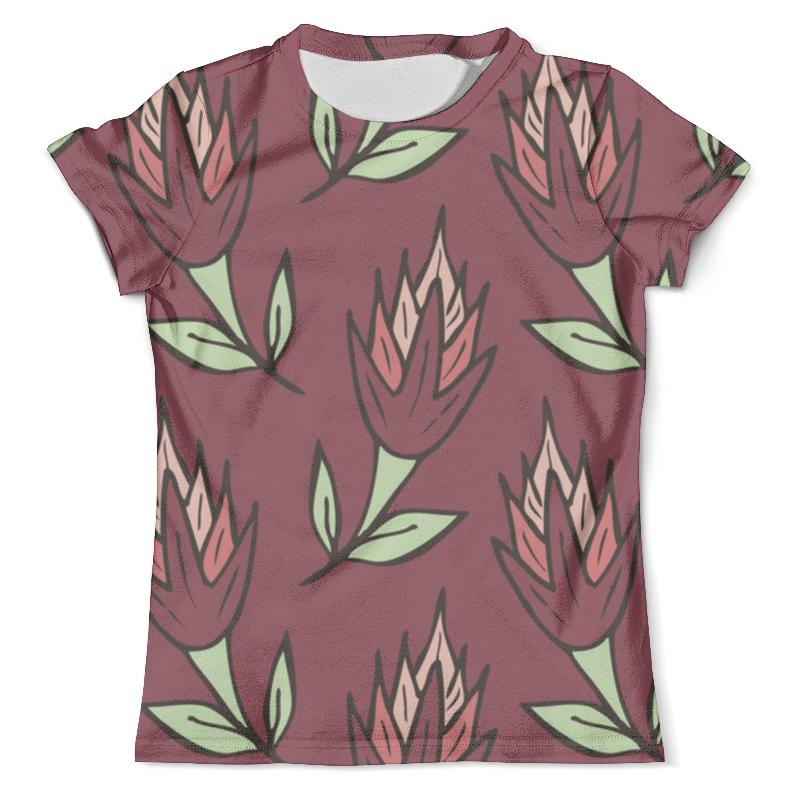 Футболка с полной запечаткой (мужская) Printio Крупные абстрактные цветы футболка с полной запечаткой мужская printio нежные абстрактные цветы