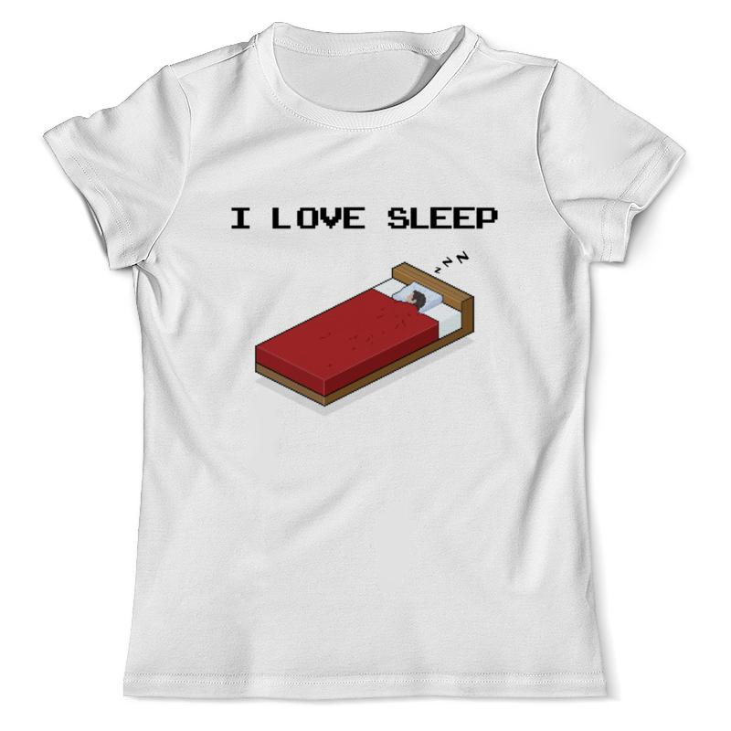 Футболка с полной запечаткой (мужская) Printio i love sleep пиксель арт арт дизайн подарочный набор открытка с ручкой я не робинзон но пятницу люблю 0701 033