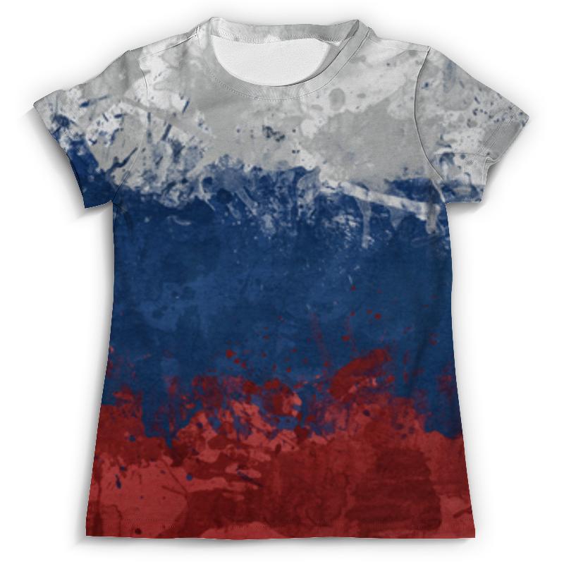 Футболка с полной запечаткой Printio Флаг россии (russia) флаг пограничных войск россии великий новгород