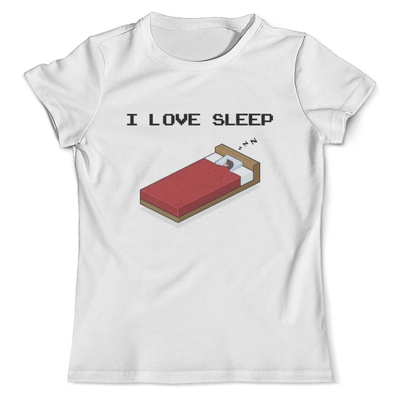Футболка с полной запечаткой (мужская) Printio i love sleep пиксель арт каталог i love sleep