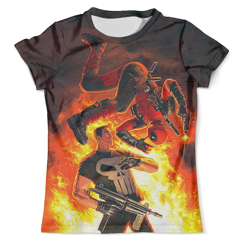 Футболка с полной запечаткой (мужская) Printio Deadpool vs the punisher футболка с полной запечаткой мужская printio the mask vs beetlejuice 1