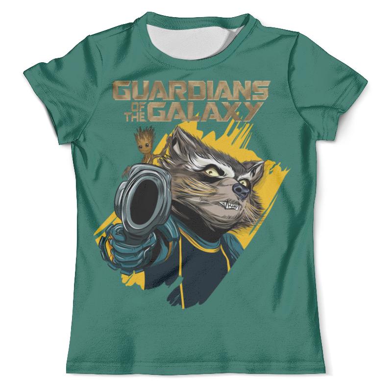 Футболка с полной запечаткой (мужская) Printio Rocket raccoon & baby groot лонгслив printio rocket raccoon and groot