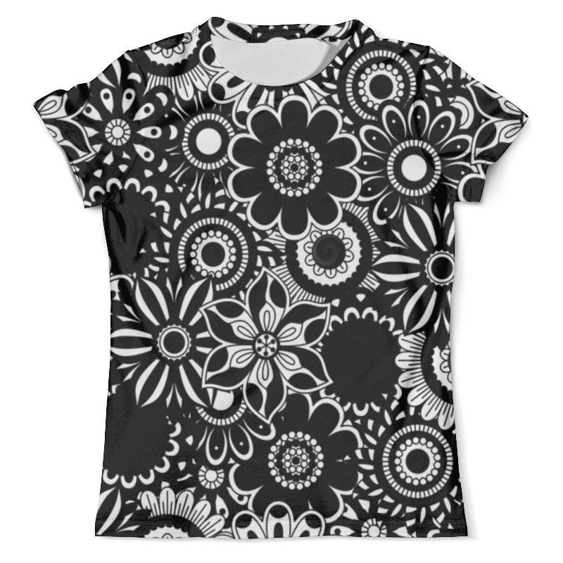 Футболка с полной запечаткой (мужская) Printio Черно-белые цветы футболка print bar белые мотыльки