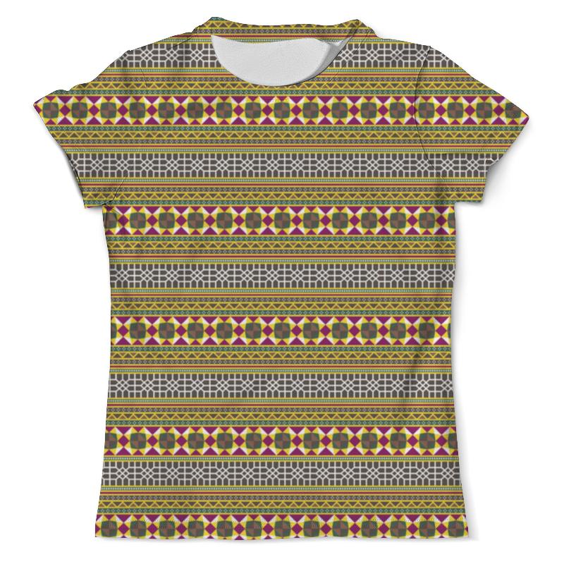 Футболка с полной запечаткой (мужская) Printio Разноцветный геометрический орнамент футболка с полной запечаткой для мальчиков printio геометрический орнамент