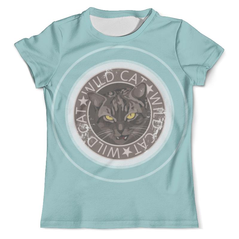 Футболка с полной запечаткой (мужская) Printio Wild cat футболка с полной запечаткой мужская printio grumpy cat