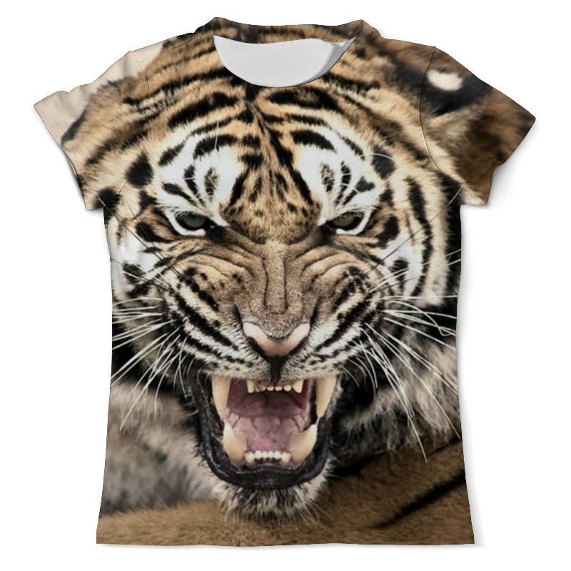 Футболка с полной запечаткой (мужская) Printio Уссурийский тигр 2 цена и фото