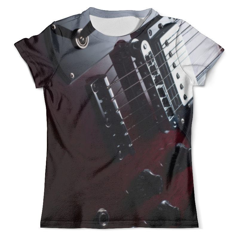Футболка с полной запечаткой (мужская) Printio Guitar electric guitar headless tremolo bridge black floyd rose guitar bridge edge style double tremolo system guitar accessories