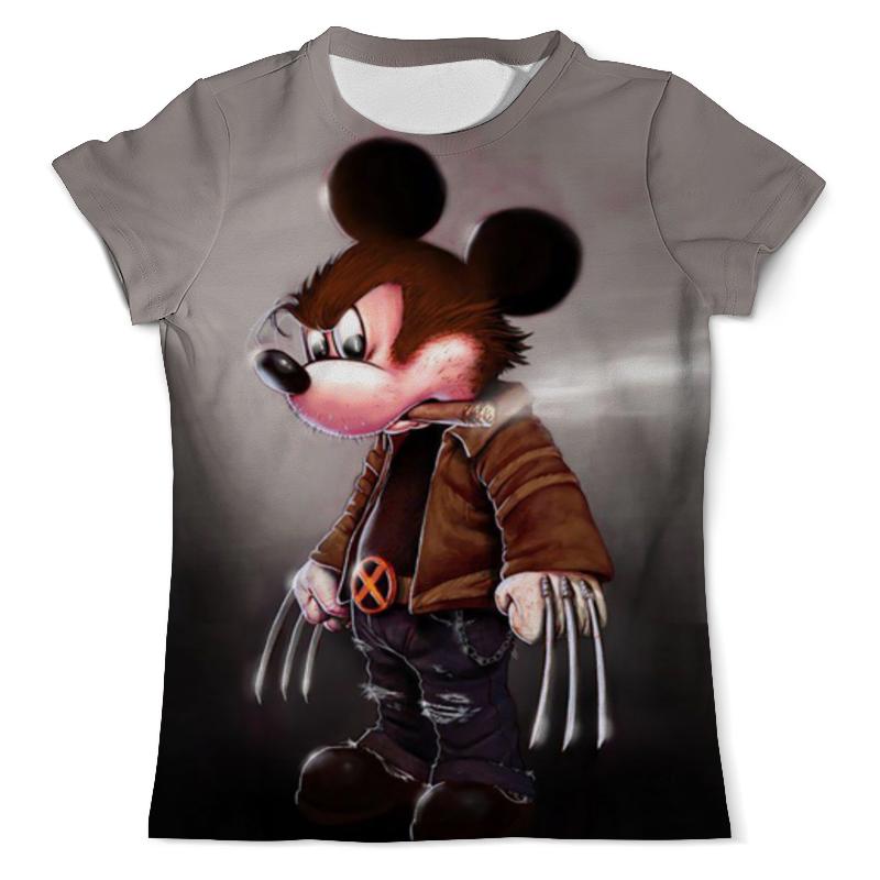 Футболка с полной запечаткой (мужская) Printio Mickey mouse as wolverine футболка с полной запечаткой для мальчиков printio mickey mouse as wolverine