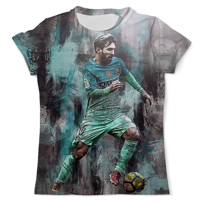 Футболка с полной запечаткой (мужская) Printio Lionel messi (1) цена и фото