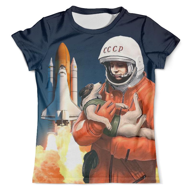 Футболка с полной запечаткой (мужская) Printio Gagarin&dog футболка с полной запечаткой мужская printio sly old dog