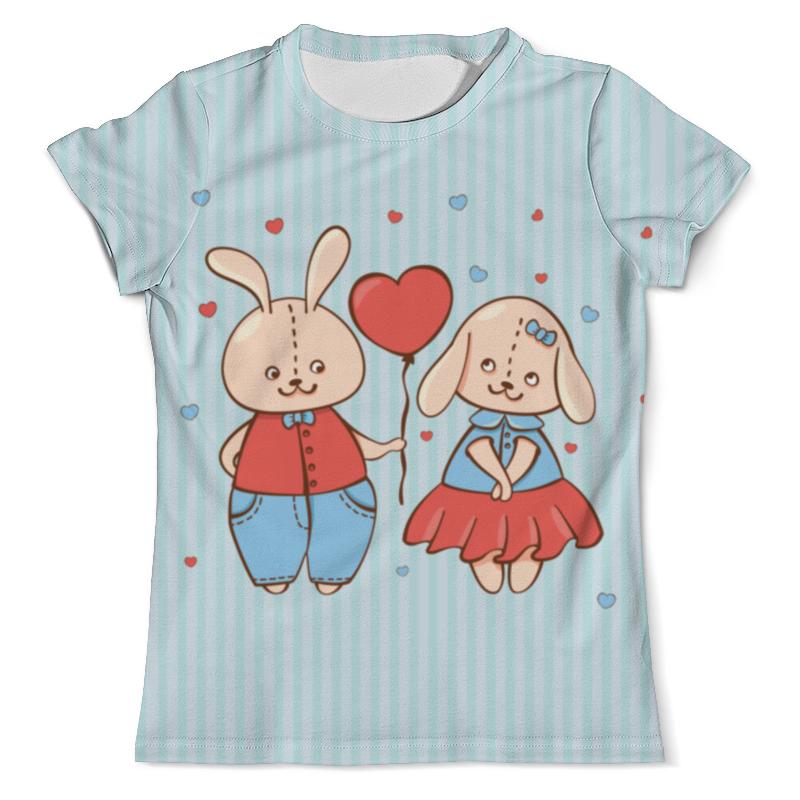 Футболка с полной запечаткой (мужская) Printio Влюбленные зайцы. парные футболки. футболка с полной запечаткой для девочек printio влюбленные мишки тедди парные футболки