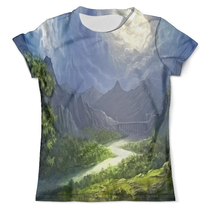 Футболка с полной запечаткой (мужская) Printio Пейзаж красками футболка с полной запечаткой для девочек printio пейзаж красками