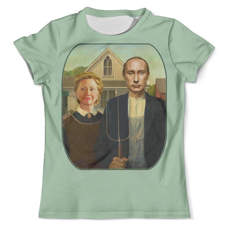 Футболка с полной запечаткой (мужская) Printio Путин и клинтон - карикатура футболка с полной запечаткой мужская printio путин casual collection