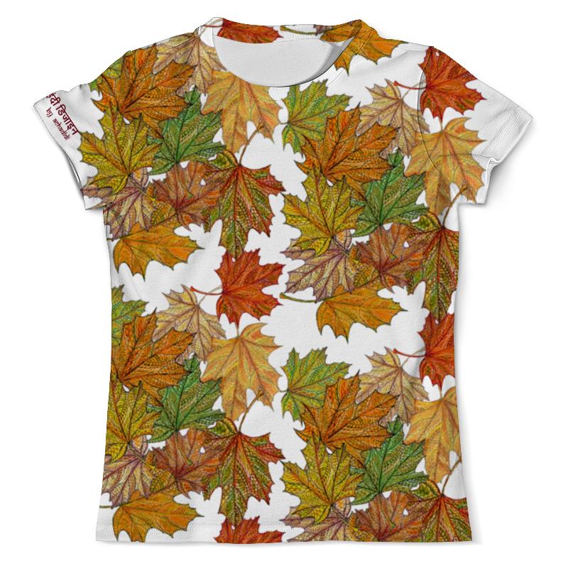 Футболка с полной запечаткой (мужская) Printio Золотая осень, кленовые листья