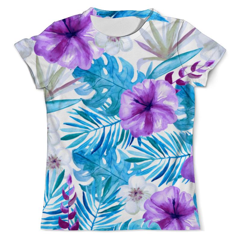 Футболка с полной запечаткой (мужская) Printio Тропические цветы футболка с полной запечаткой printio цветы любви