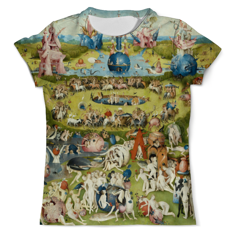 Футболка с полной запечаткой (мужская) Printio Сад земных наслаждений футболка print bar сад земных наслаждений