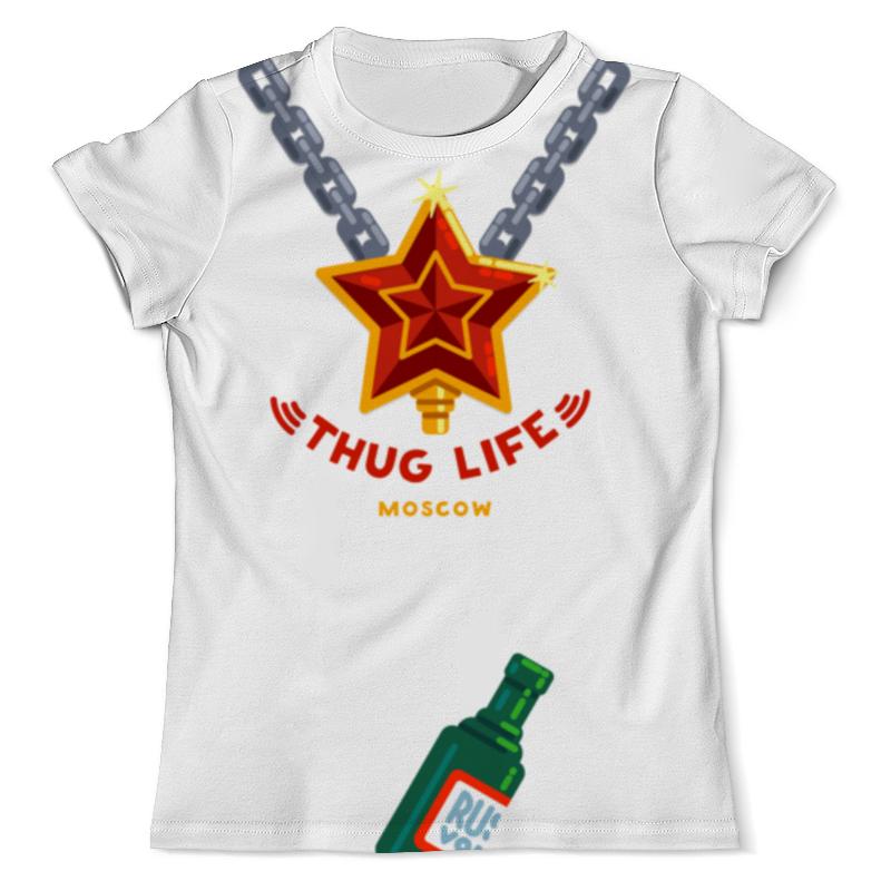 Футболка с полной запечаткой (мужская) Printio Thug life (moscow) худи print bar deadpool thug life