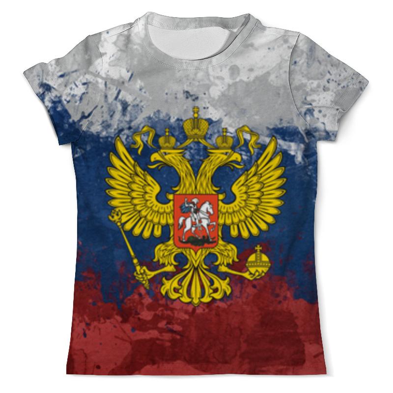 Футболка с полной запечаткой (мужская) Printio Флаг и герб россии футболка с полной запечаткой для мальчиков printio флаг и герб россии