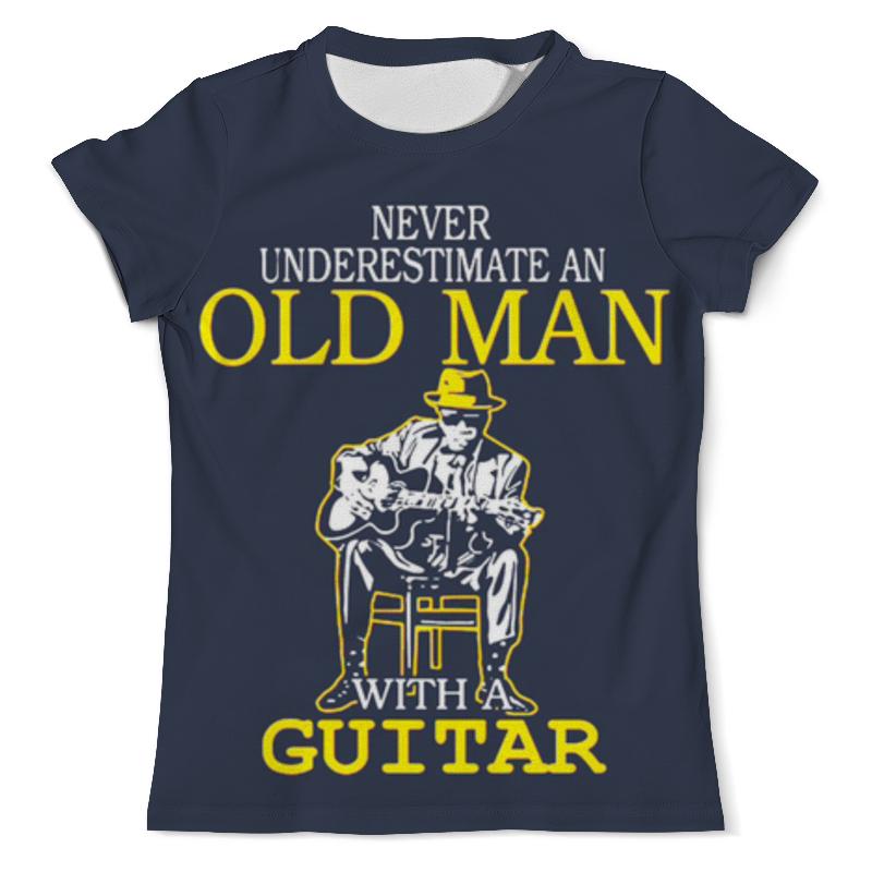Футболка с полной запечаткой (мужская) Printio Old man guitar