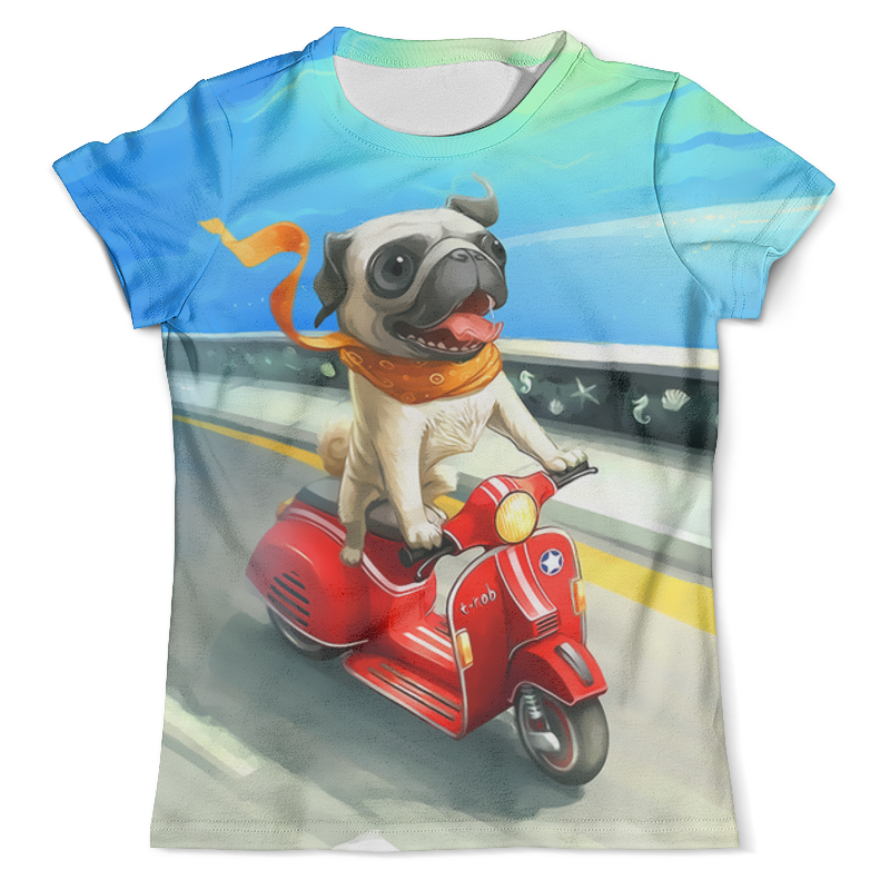 Футболка с полной запечаткой (мужская) Printio Гонщик футболка с полной запечаткой для девочек printio гонщик