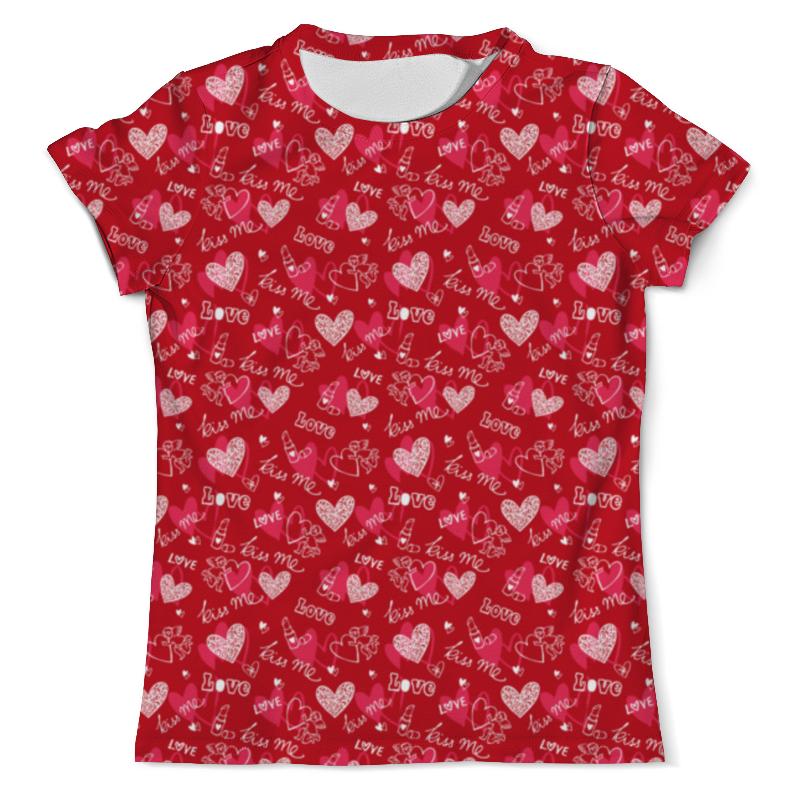 Футболка с полной запечаткой (мужская) Printio Kiss me футболка с полной запечаткой для мальчиков printio kiss me