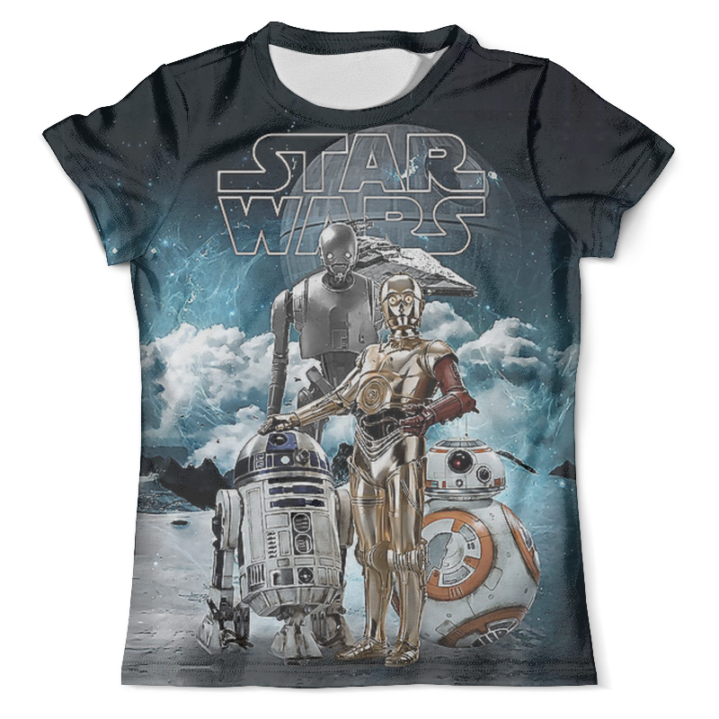 Футболка с полной запечаткой (мужская) Printio Star wars droids