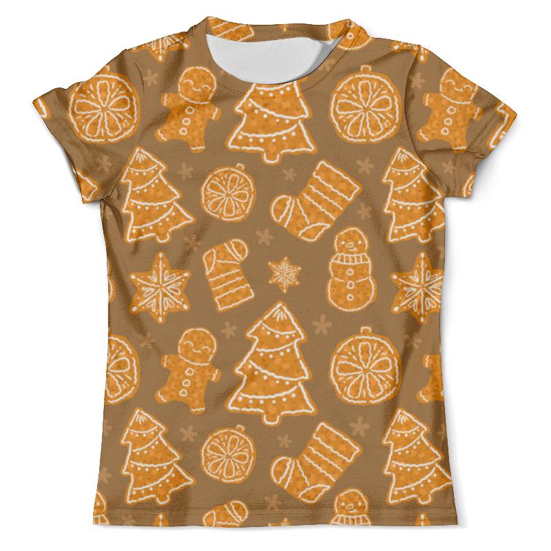 Футболка с полной запечаткой (мужская) Printio Christmas dessert свитшот print bar christmas dessert