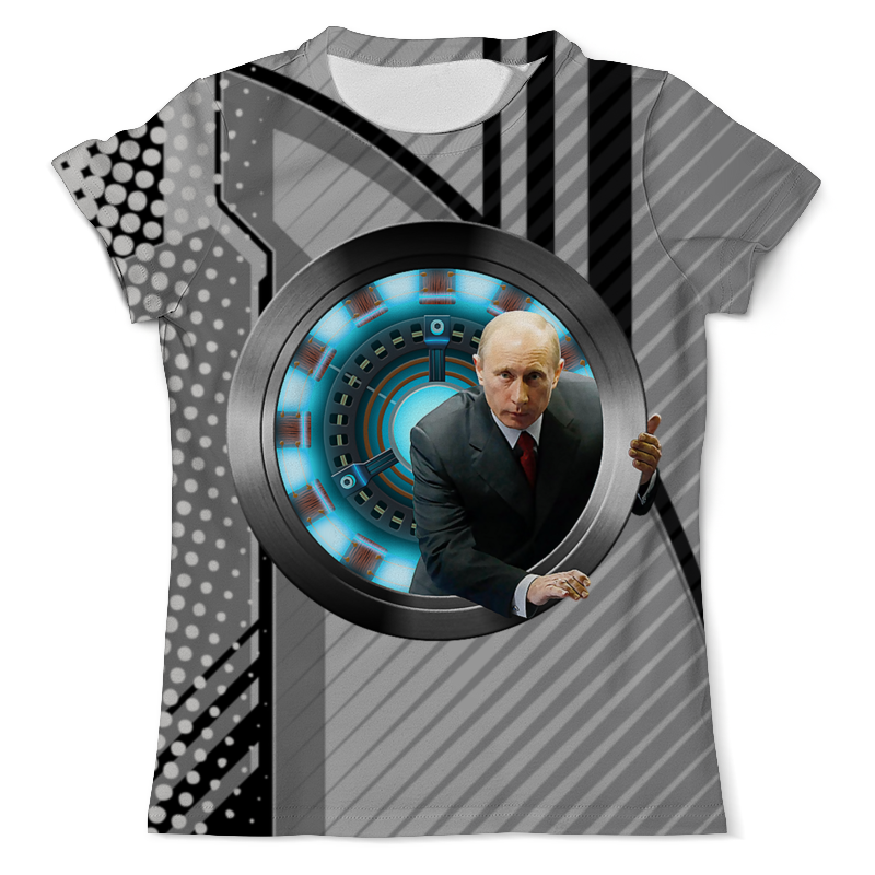Футболка с полной запечаткой (мужская) Printio Iron putin design футболка с полной запечаткой мужская printio iron maiden
