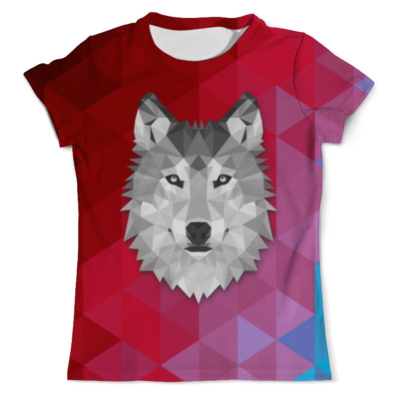 Футболка с полной запечаткой (мужская) Printio Полигональный волк футболка с полной запечаткой мужская printio красная шапочка и серый волк 3