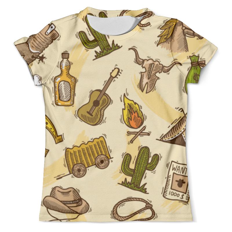 Футболка с полной запечаткой (мужская) Printio Дикий запад футболка с полной запечаткой мужская printio дикий леопард кот