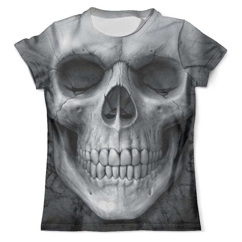 Футболка с полной запечаткой (мужская) Printio Skull grey футболка мужская diesel q01530402 grey