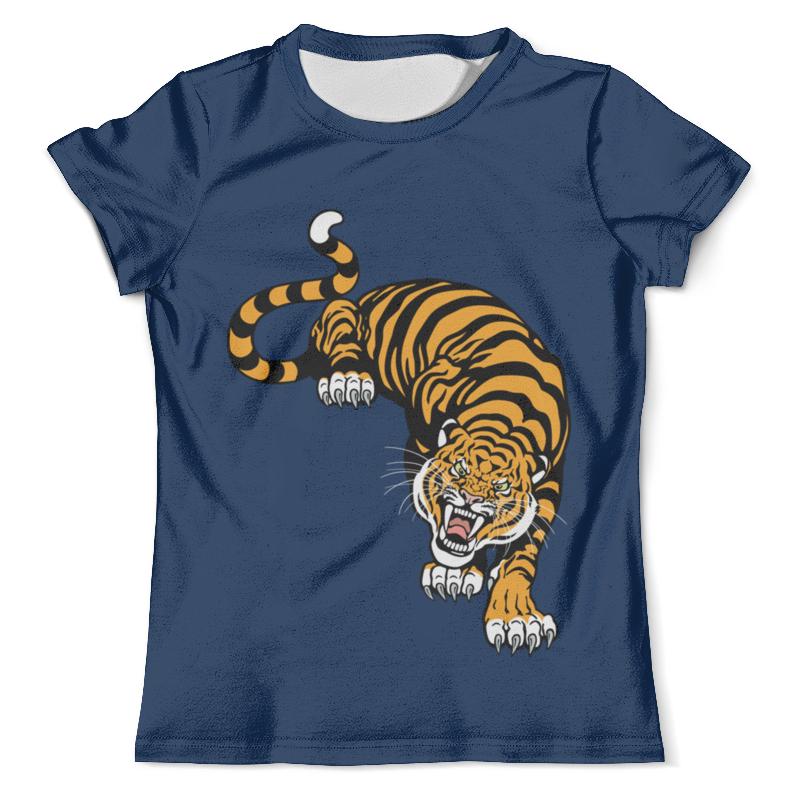 Футболка с полной запечаткой (мужская) Printio Свирепый тигр подушка 60х40 с полной запечаткой printio свирепый тигр
