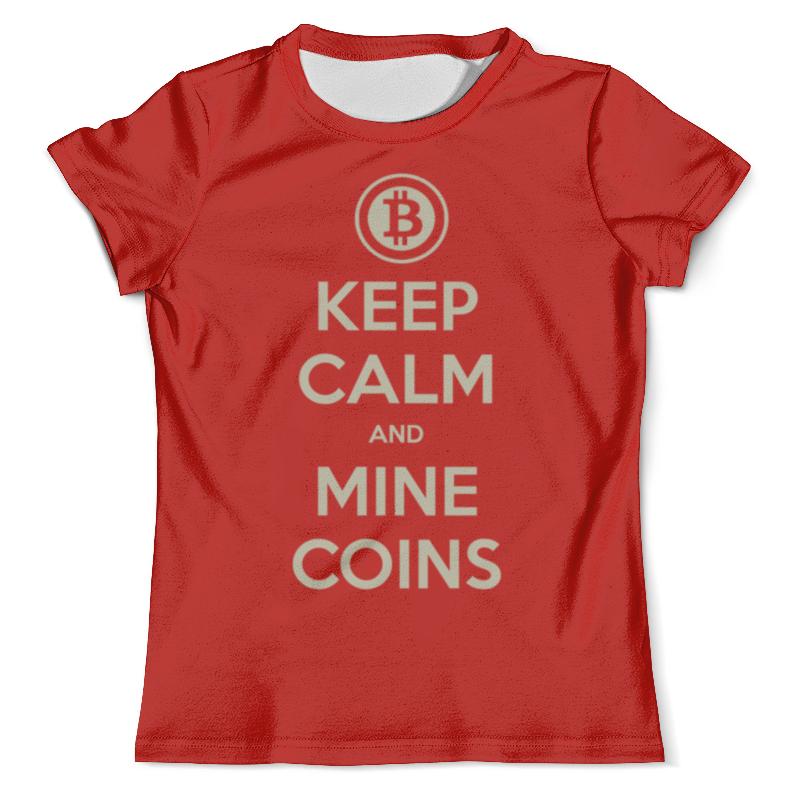 Футболка с полной запечаткой (мужская) Printio Keep calm and mine coins yours mine