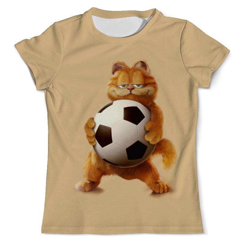 Футболка с полной запечаткой (мужская) Printio Гарфилд футболист (1) цена и фото