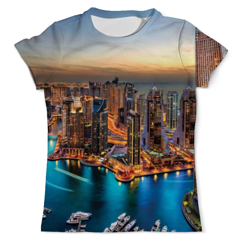 Футболка с полной запечаткой (мужская) Printio Город мечты футболка с полной запечаткой мужская printio осень город такси тоска