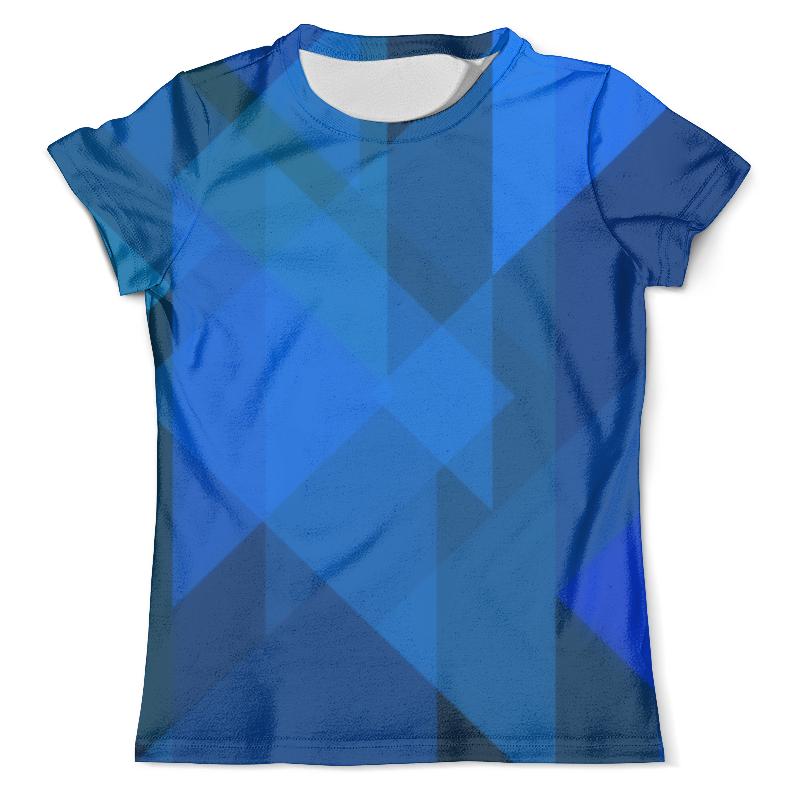 Футболка с полной запечаткой (мужская) Printio Синий абстрактный