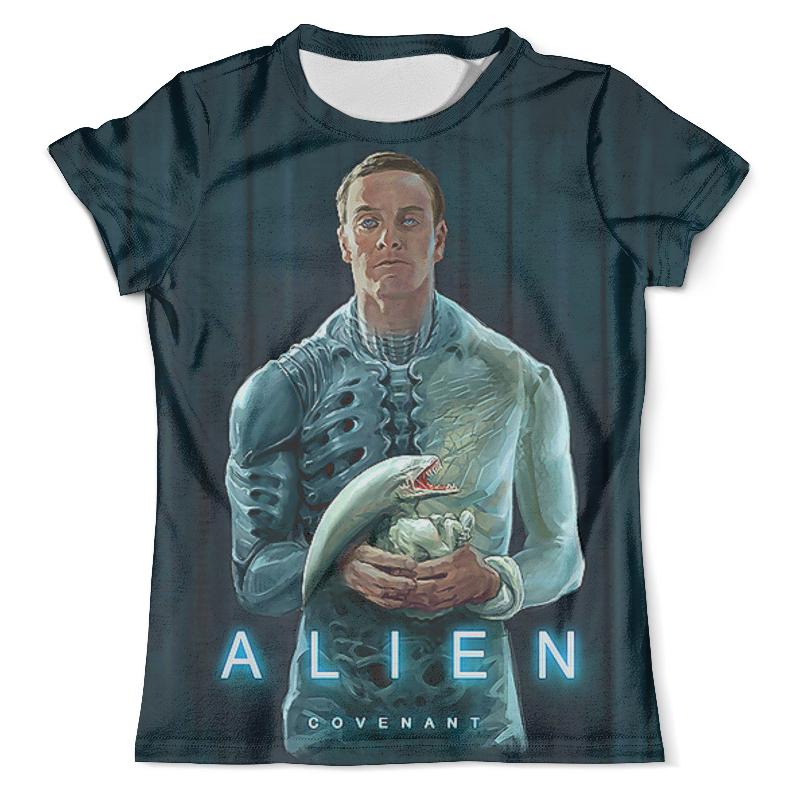 Футболка с полной запечаткой (мужская) Printio Alien covenant цена 2017